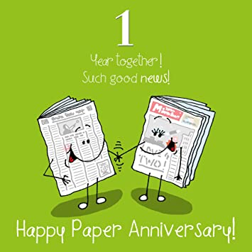 1st wedding anniversary greetings card paper anniversary amazon 1st wedding anniversary greetings card paper anniversary m4hsunfo