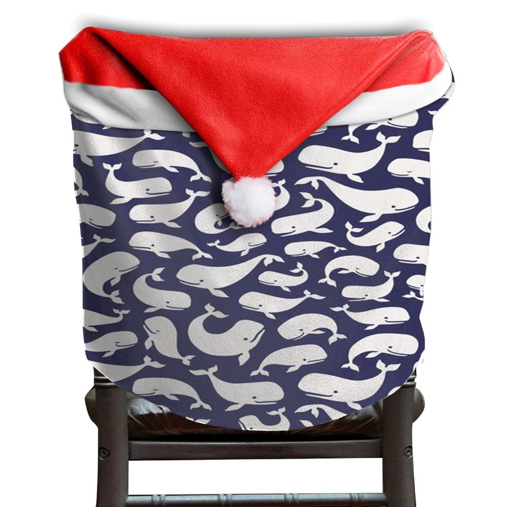 Whale Animal Christmas Chair Covers Antique Comfort Touch Hang Around Chair For Adult Chair Back Cover Christmas Holiday Festive