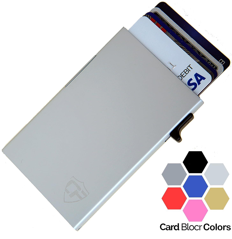 Card Blocrコクレジットカードホルダーメンズまたはレディース| ベストミニマリストウォレット|スリムなRFIDブロッキングフロントポケットウォレットデザイン B079S3K33Z Side Slide Trigger|Silver Silver Side Slide Trigger
