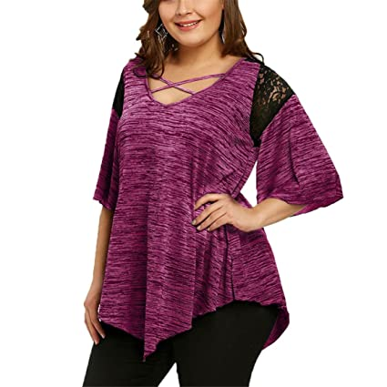 c43f7a780c7 Image Unavailable. Image not available for. Color  Nadition Plus Size T- shirt dress Clearance ♥ Women s ...