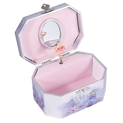 Amazoncom Purple Castle Musical Music Jewelry Box with Dancing