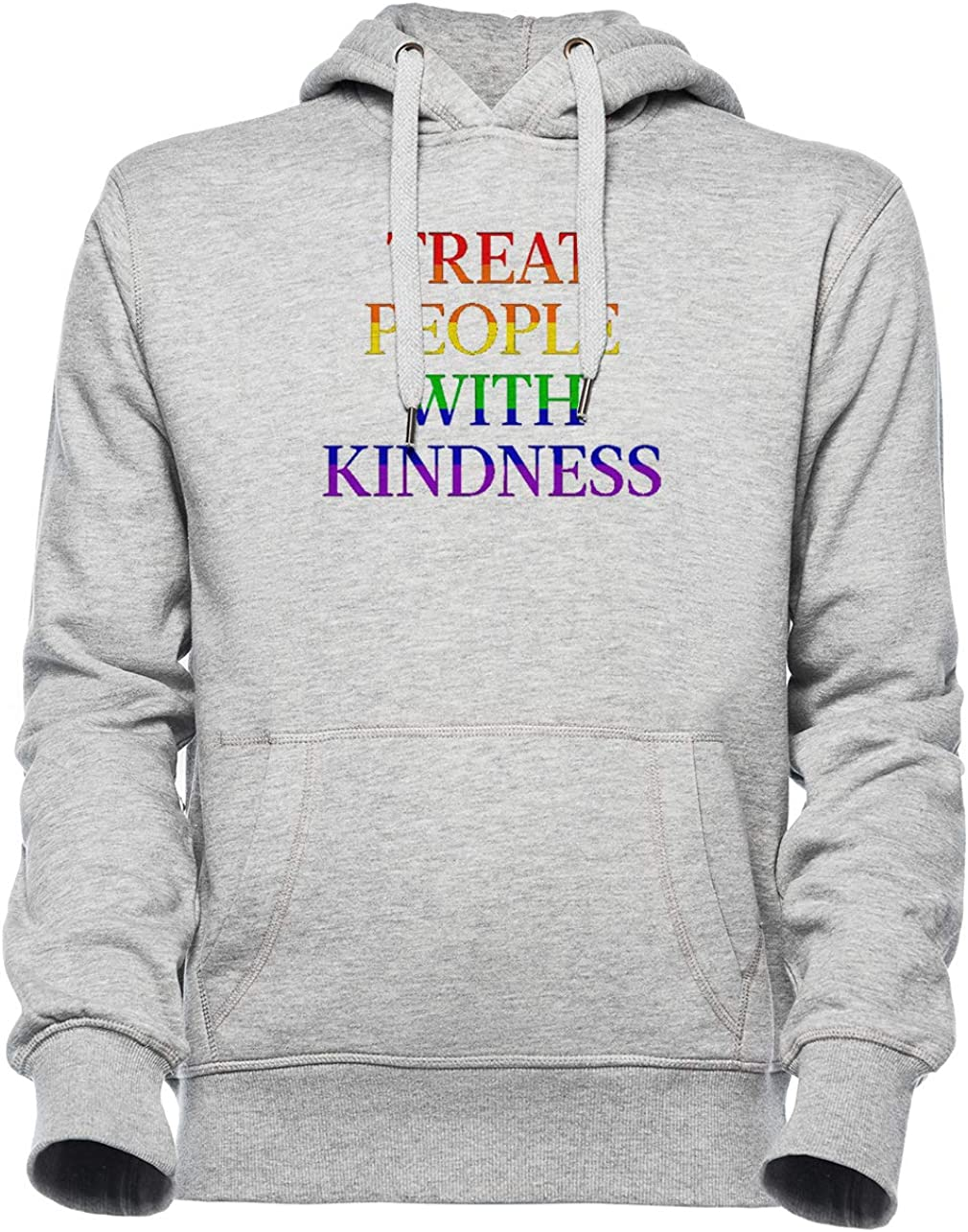 Pride Unisexo Gris Sudadera con Capucha Hombre Mujer Unisex Grey Hoodie Mens Womens Treat People with Kindness