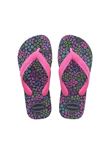 15ebae3c94e22 Havaianas Flores, Girl's Flip Flops, Purple (New Purple), 12 Child UK