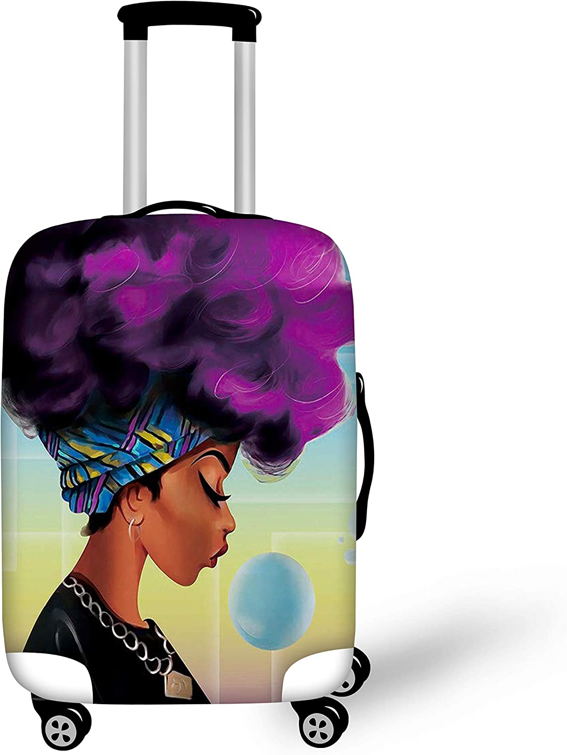 BIGCARJOB Trendy Luggage Cover Elastic Spandex Dust-proof Case African woman Printed Fit 30-32inch Suitcase