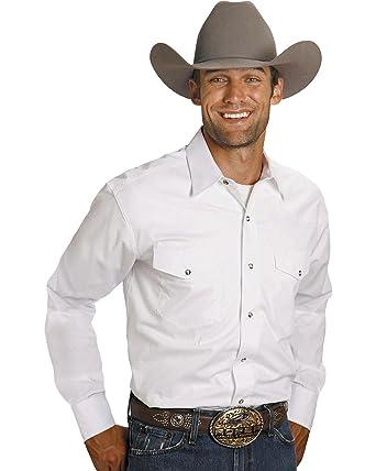 e25d87c044e436 Roper Men's Solid Poplin L/S Shirt at Amazon Men's Clothing store: