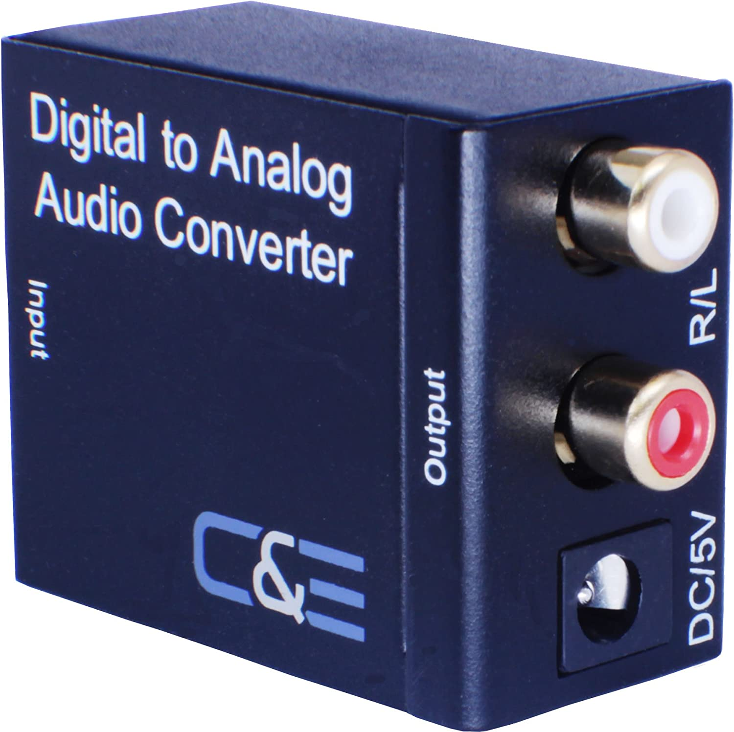 C&E Digital Optical Coax to Analog R/L audio converter Margin Mart CNE723225