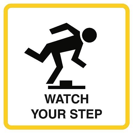 Amazon.com: Reloj imagen de tu Paso Caution Aviso Comercial ...