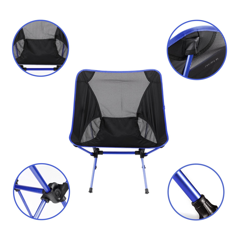 Diswoe Chaises de Camping P/êche Portables Chaise de Plage Chaise Plianteultra L/ég/ère en Plein Air avec Sac de Transport pour Randonn/ée Plage