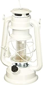 Northpoint 190611 Vintage Style London Fog Hurricane 12 LED's and 150 Lumen Light Output and Dimmer Switch, Battery Operated Hanging Lantern for Indoors and Outdoor Usage