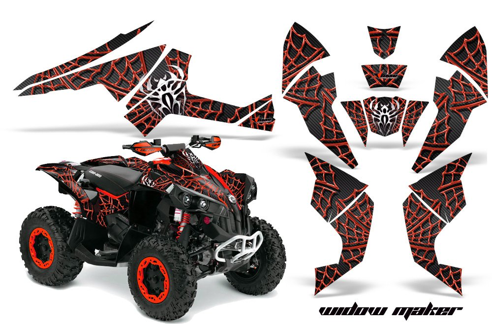 AMR Racing Graphics Can-Am Renegade 800 XR All Years ATV Vinyl Wrap Kit - Widow Maker Red Black