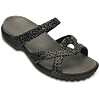 crocs Women's Black Croslite Meleen Twist Mickey Sandal W7