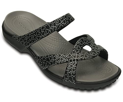 e5e3a6ebc4b4 crocs Women s Meleen Twist Mickey Sandal Black Outdoor W6 (203831)   Amazon.in  Shoes   Handbags