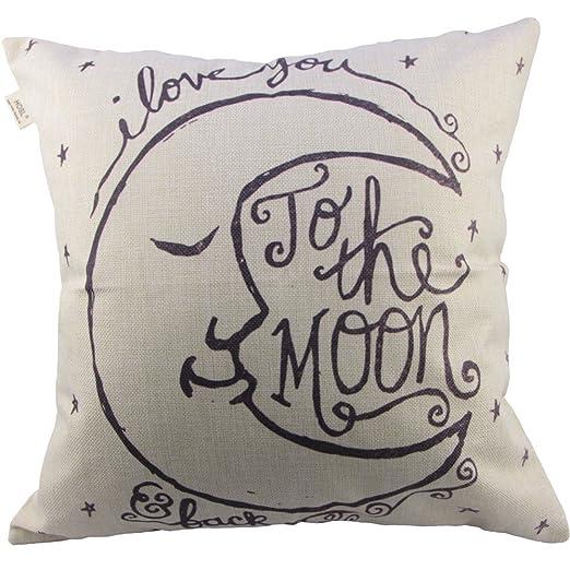HOSL I Love You To The Moon and Back, Colcha de algodón y ...