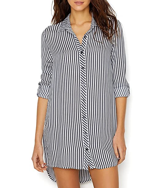 c69856f07f PJ Salvage Women s Simple Stripes Nightshirt