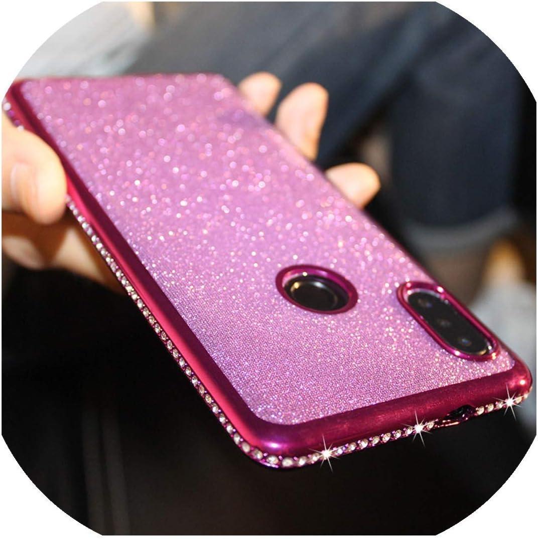 Bling Glitter Case for Huawei Honor 7A 7X 7C 8X 8A 9 V 10 Lite 20 i 9X Pro Y5 Y6 Y7 Prime Y9 2019 Diamond Rhinestone Cover,for Honor 9X Pro,Purple