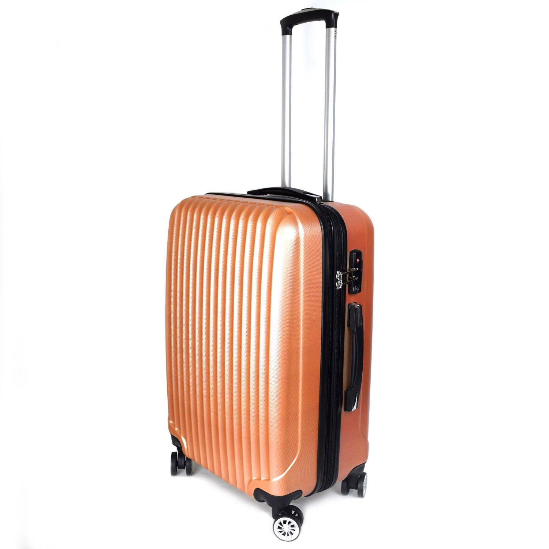 【神戸リベラル】 LIBERAL 軽量 拡張ファスナー付き S,M,Lサイズ スーツケース キャリーバッグ 8輪キャスター TSAロック付き B01N3CHW0E Lサイズ(長期用 85/95L)|インカゴールド インカゴールド Lサイズ(長期用 85/95L)