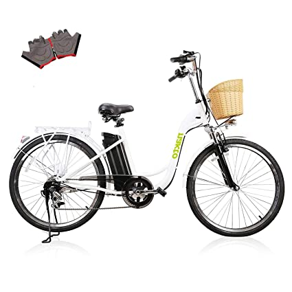"""2cb72ecf31a NAKTO 26"""" Adult Electric Bicycle for Women with High-Speed Brushless  Motor, V"""