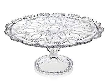 Amazon.com | CRYSTAL GIFTWARE ROYALTY CAKE PLATE: Cake Stands: Cake ...