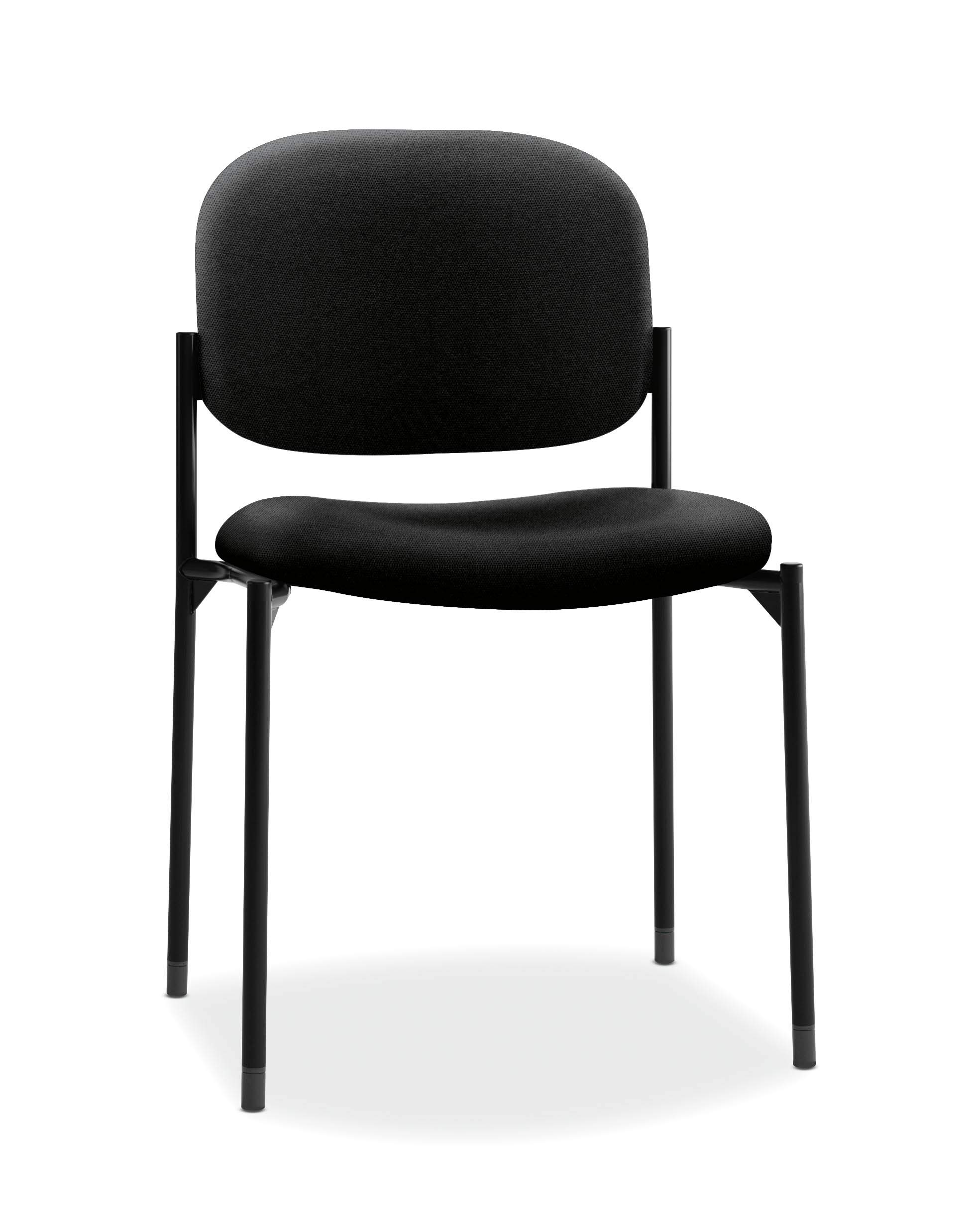 HON Scatter Armless Stacking Guest Chair, in Black (HVL606) by HON
