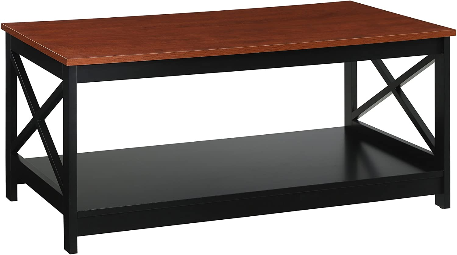 Convenience Concepts Oxford Coffee Table, Cherry / Black