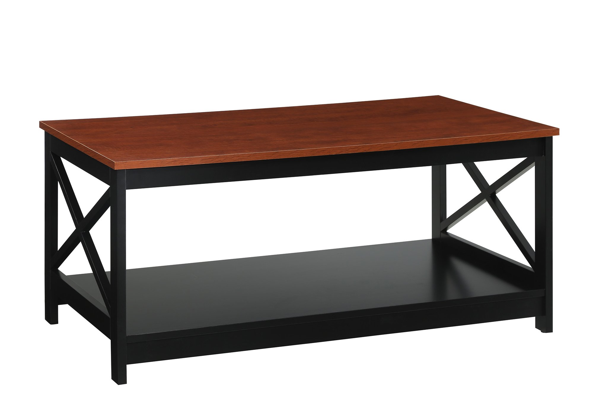 Convenience Concepts Oxford Coffee Table, Cherry/black