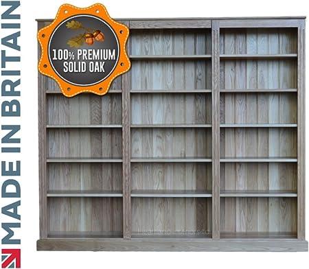 100% Roble Macizo librería, Hecho a Mano de Roble Macizo 6 ft ...