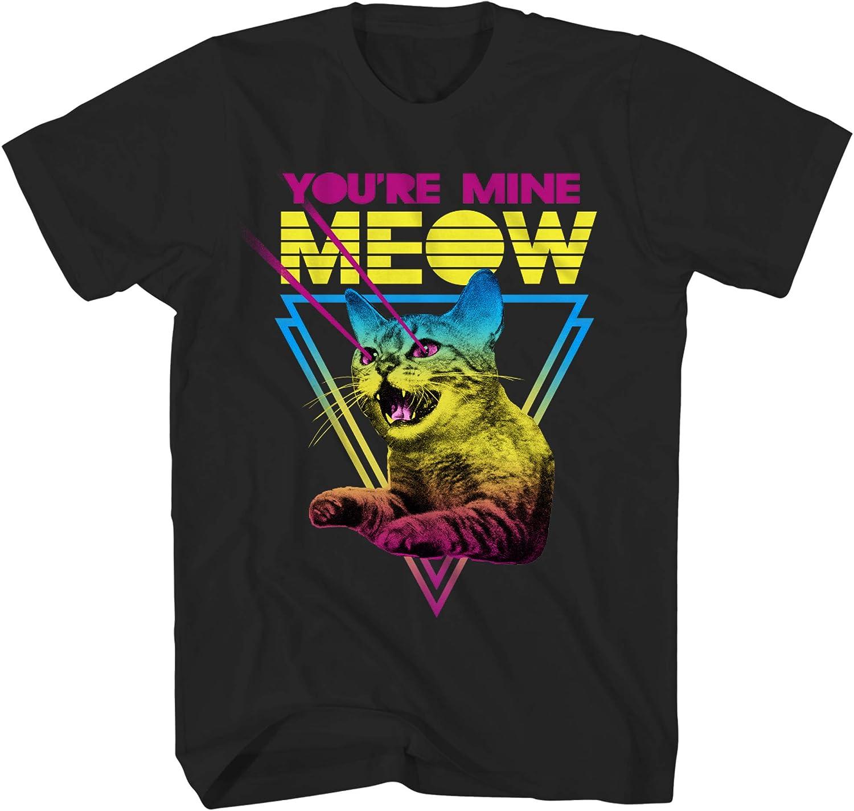 Thread Science Cat Fight Dinosaur Laser Classic Retro Funny Humor Pun Adult Mens Graphic T-Shirt Tee Shirt