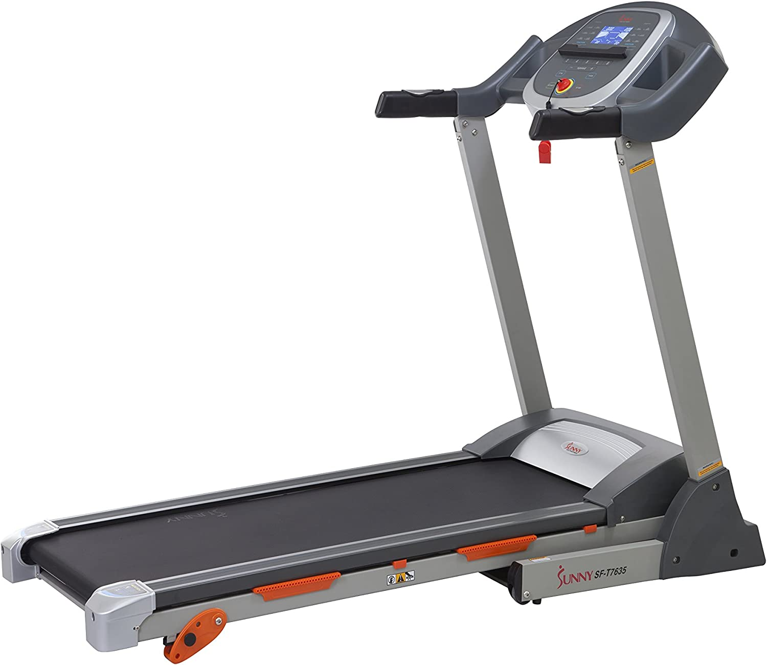 Sunny Health & Fitness Sf-t7635 Tapis de Course avec l'Inclinaison, Pulse Grips, écran LCD