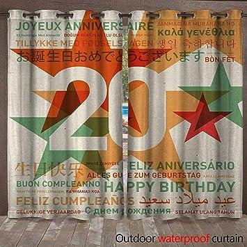 Plantty Caja de Cortinas para Fiesta de cumpleaños número 20 ...