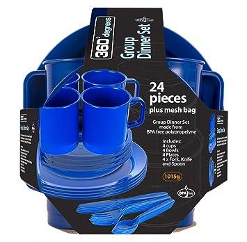 360° degrees Set de Vaisselle 24 Pièces Group Dinner Set Vente Meilleur Prix qualité Qualité En Ligne Pas Cher Package De Compte À Rebours En Ligne JSo9GnL