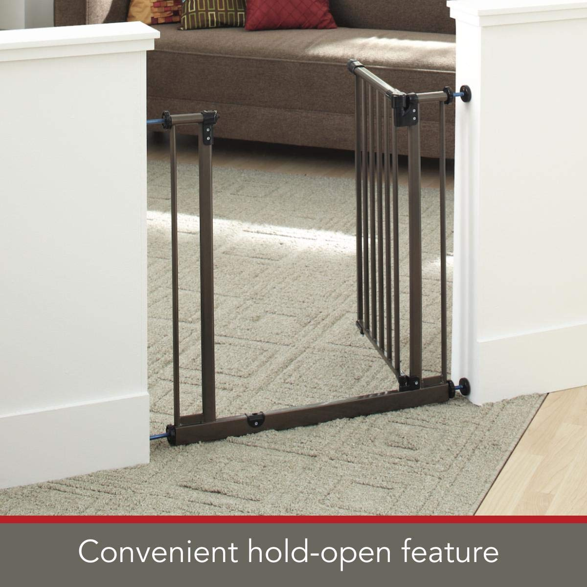 """The multi-directional swing gate with North States 38.5/"""" Easy-Close Baby Gate"""