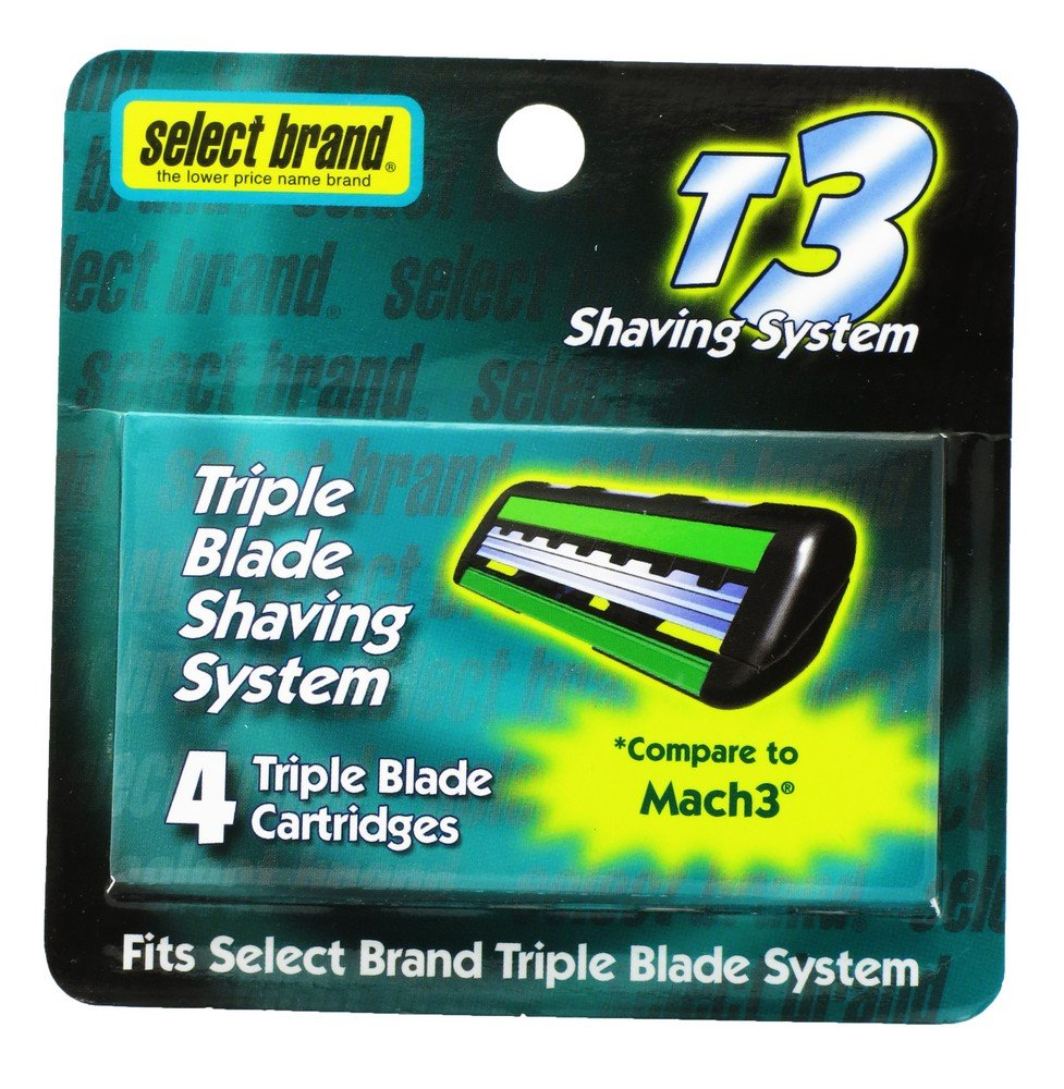 Amazon com: Select Brand 4 Triple Blade Cartridges for T3