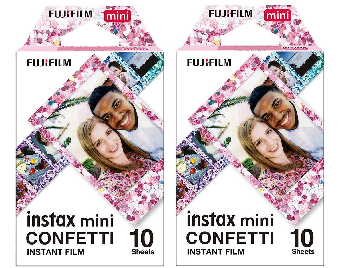 Fujifilm Instax Mini Confetti 19061920 Film, 20 Sheets, 2 Value Set by instax