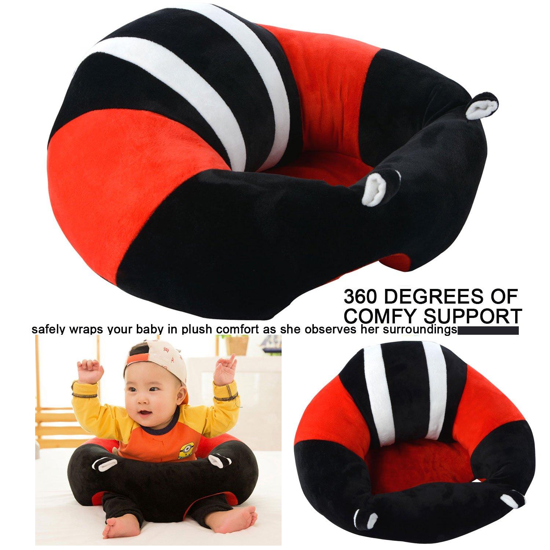 tragbarer Sitzsack weicher Pl/üsch Motiv: Cartoon f/ür Kleinkinder f/ür Babys von 3-16/Monaten Auflage rose 43x43x20cm sicher Jycra Babysitz