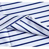 Cotton Spandex Single Jersey Fabric 9 oz Yarn Dyed Stripes 2 Way Stretch T-Shirt Yarn Pajama Skirt Tablecloth Dust Cover…