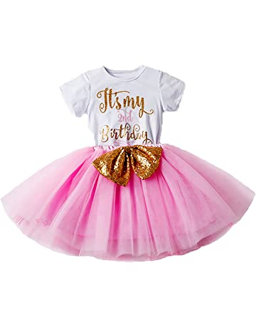 3512971a2292 Newborn Baby Infant Toddler Girls It s My 1st 2nd Birthday Cake Smash Shiny  Printed Sequin