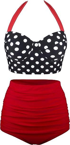 Amazon.com: Angerella traje de baño bikini vintage ...