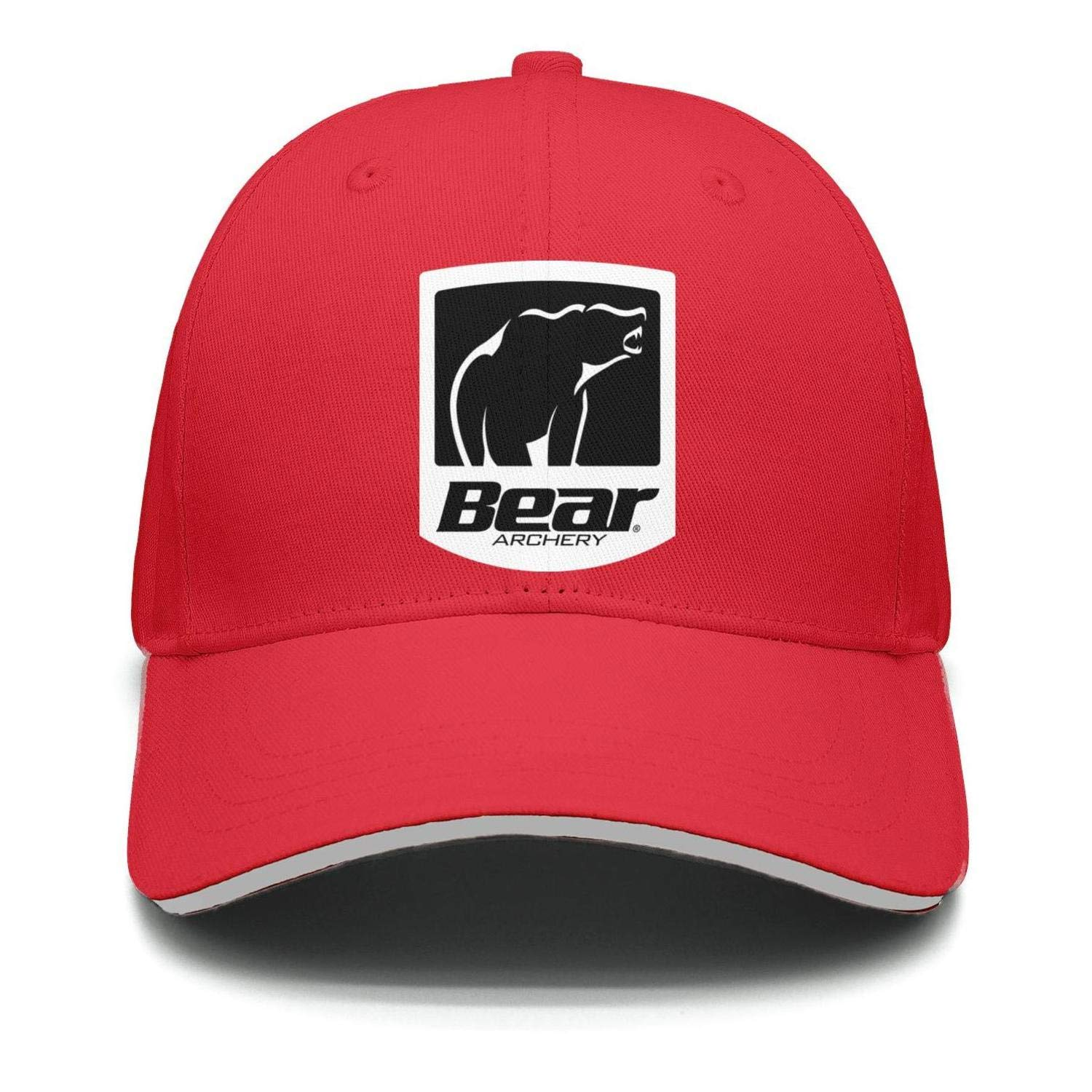 Mens Womens Dad Cap Trucker-Bear-Archery-Hat Outdoor Breathable Baseball Snapback Mesh