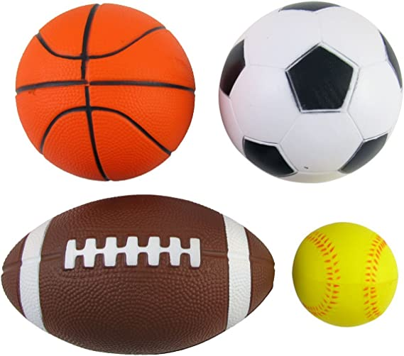 """Multicolor Soccer Ball Pack of 4 5"""" Mini Sports Ball Perfect for Outdoor..."""