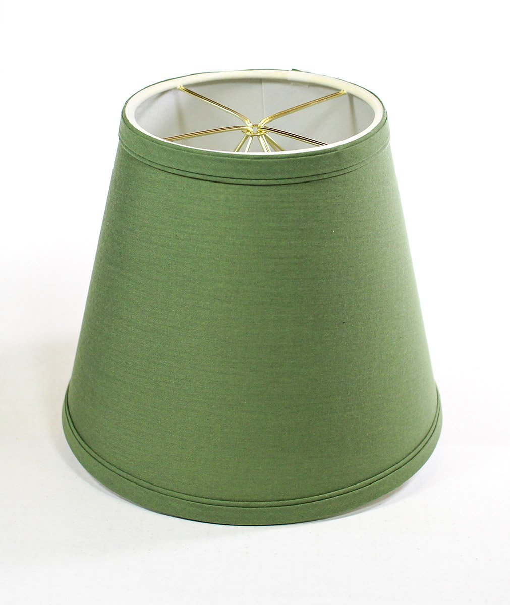 5x8x7 Empire Linen Edison Clip On Lampshade Kale Green By Home Concept - Perfect for small table lamps, desk lamps, and accent lights -Small, Kale Green