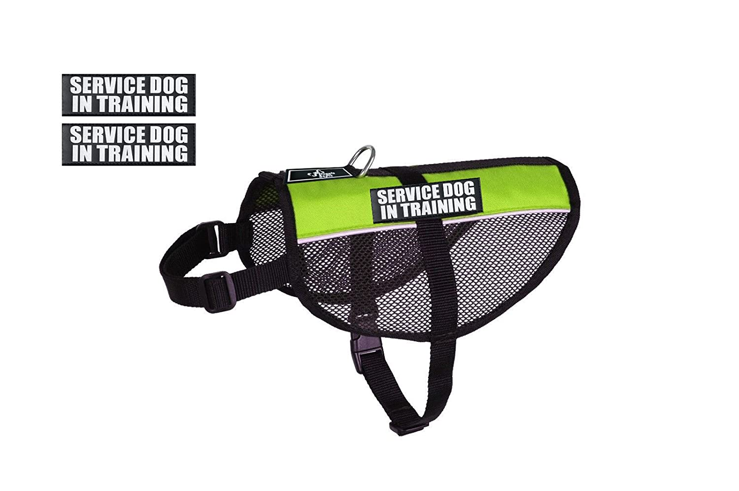 Lime Green Girth 15-20\ Lime Green Girth 15-20\ Service Dog in Training mesh Vest Dog Harness Cool Comfort. Purchase Comes 2 Reflective Service Dog in Training Patches. Be Sure to Measure Your Dog Before Ordering