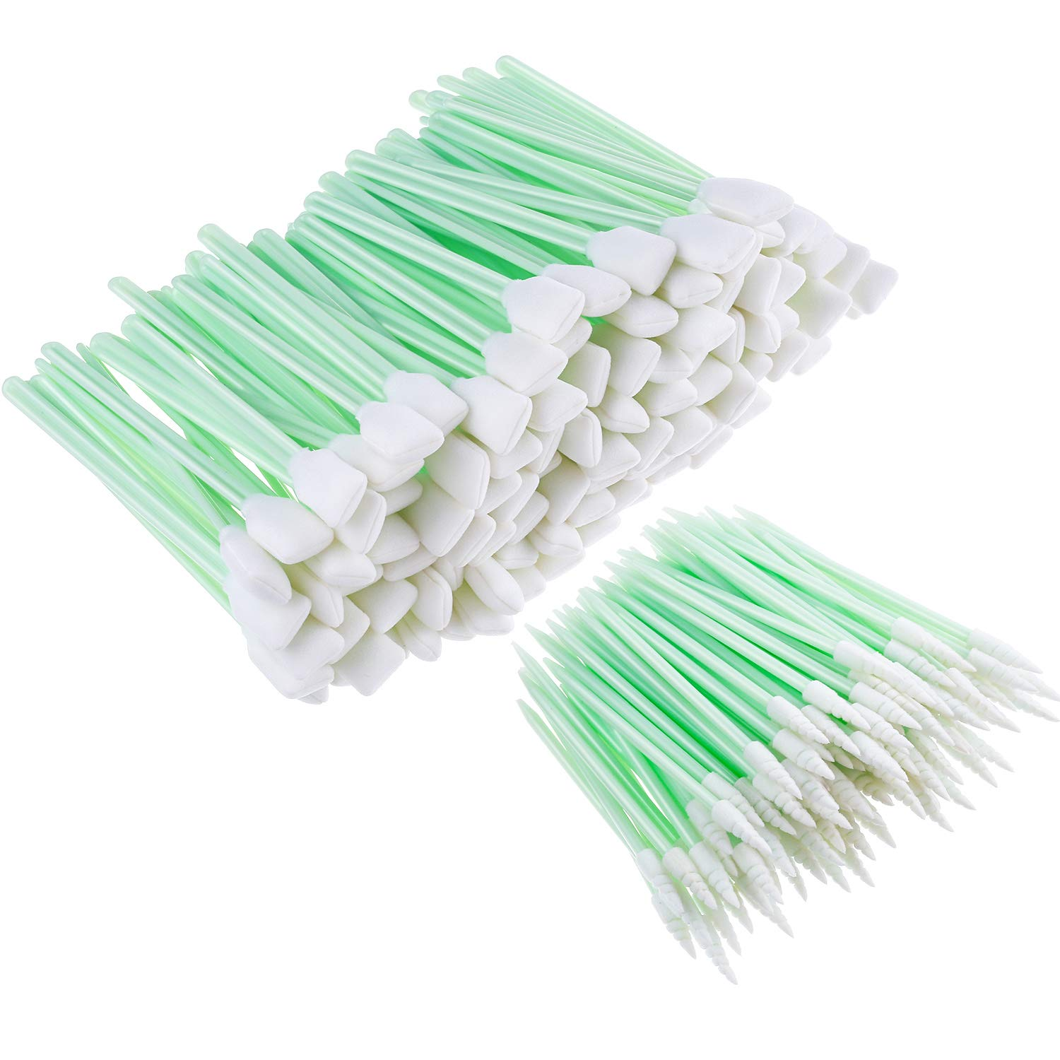 Chinco 200 Pieces 5.1 Inches Square Rectangle Foam Cleaning Swab Sticks and 2.52 Inches Foam Tip Cleaning Swabs Sponge Stick for Inkjet Printer, Print Head, Camera, Optical Lens, Optical Equipment by Chinco
