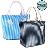 VARANO Insulated Lunch Bag Lunch Box for Women Reusable Lunch Tote Cooler Organizer Bag with Upgraded Leakproof Interior (2 Value Pack)