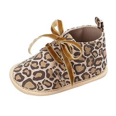 c024800101fde Longra Chaussures premiers pas Bébé Fille Garçons Bottines Enfant Laçage  Chaussons pointure Bébé Taille chaussure Bebe
