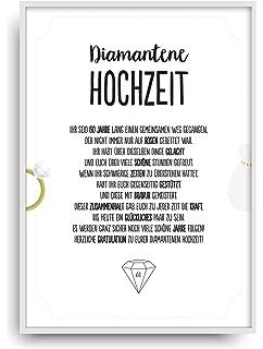 Glückwunschkarte Zur Diamantenen Hochzeit Herzlichen