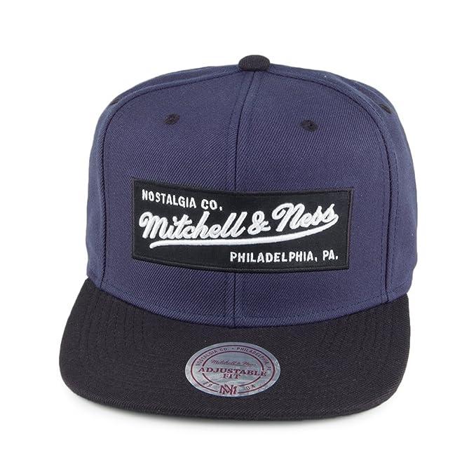 cheap for discount 6d71f 58b85 Mitchell   Ness Men Caps Snapback Cap Box Logo Blue Adjustable   Amazon.co.uk  Clothing
