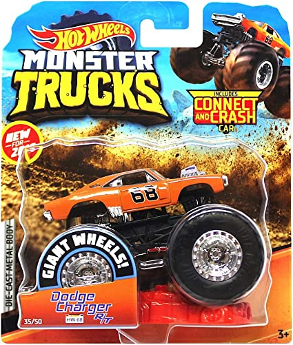 Amazon Com 2019 Hot Wheels Monster Trucks Dodge Charger R T General Lee Toys Games