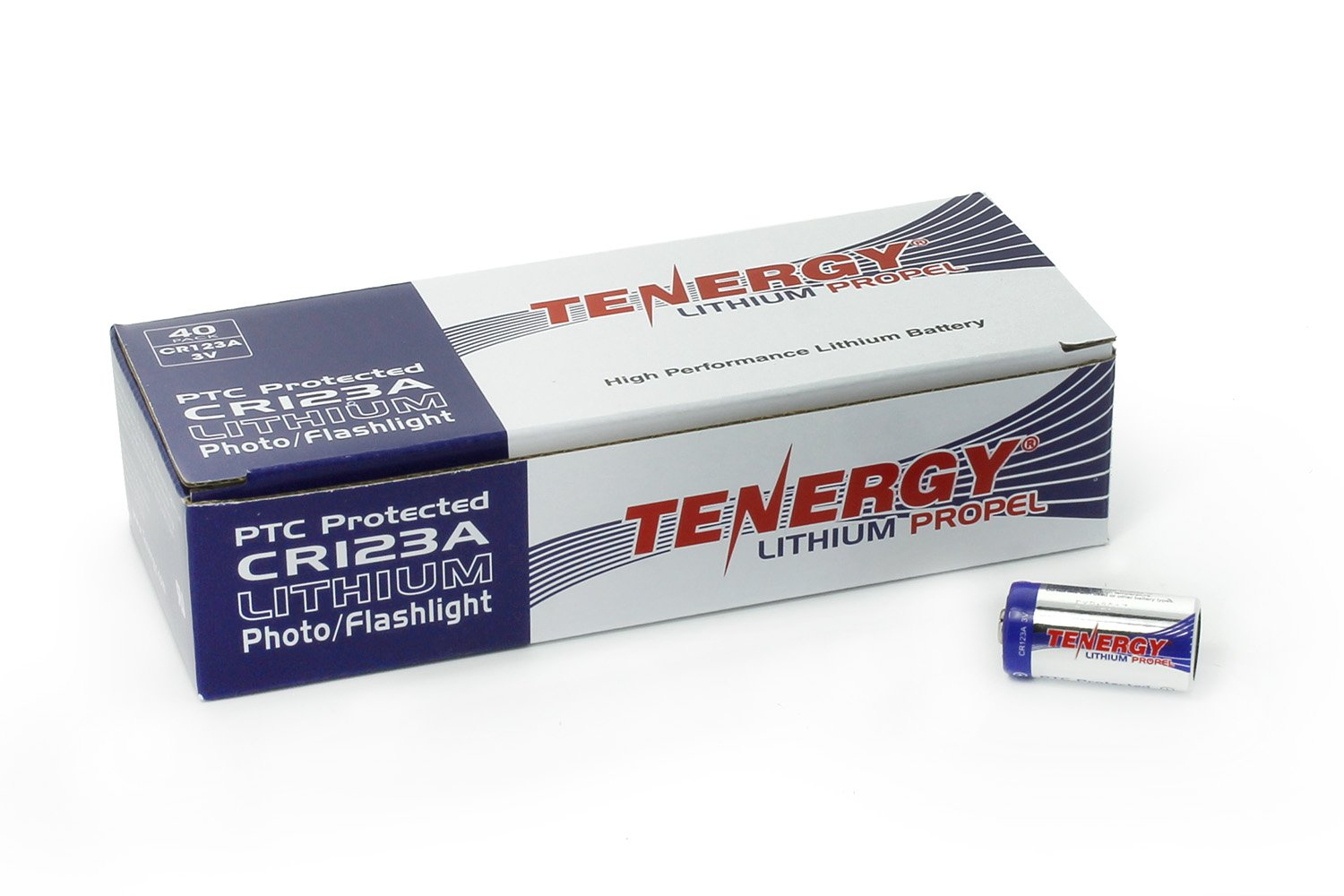 Tenergy Propel 1500mAh 3V CR123A Lithium Battery, High Performance CR123A Cell Batteries PTC Protected for Cameras, Flashlight Replacement CR123A Batteries, 40-Pack by Tenergy (Image #7)