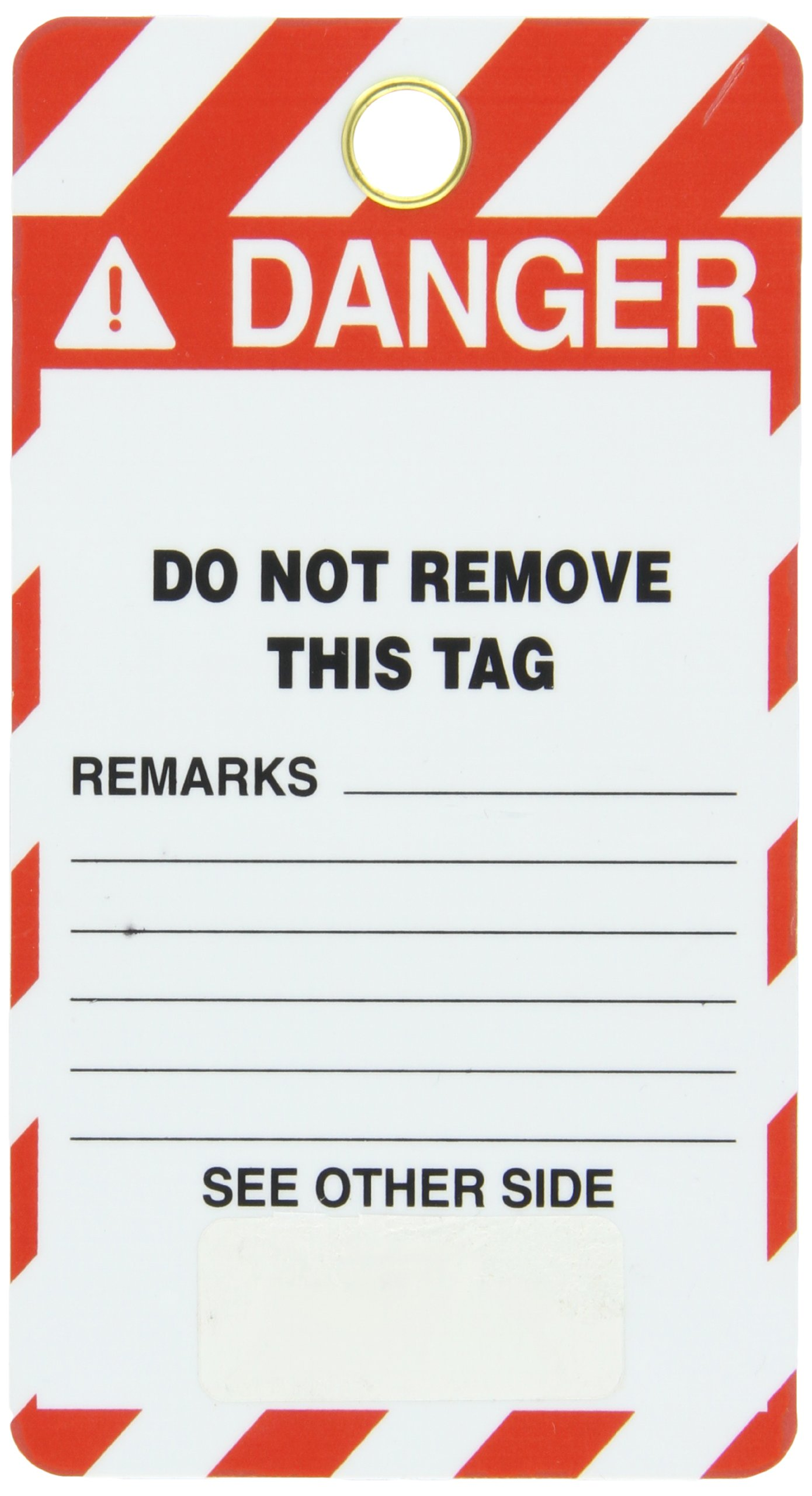 Lockout Tag, Super Laminated, Reusable Lockout Tag, Legend ''Do Not Operate'', 5-1/2'' Length x 3-1/4'' Width