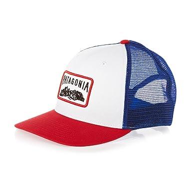 88987191 Patagonia Trucker Cap Red White Blue: Amazon.co.uk: Clothing